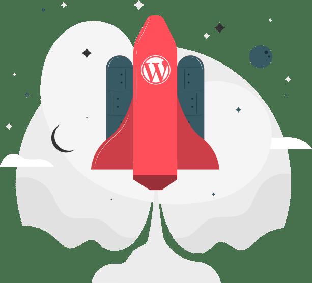 Ilustração WordPress Rápido